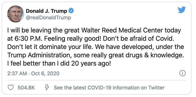 Trump Dibenar Keluar Hospital
