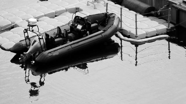 Reflection patrol boat