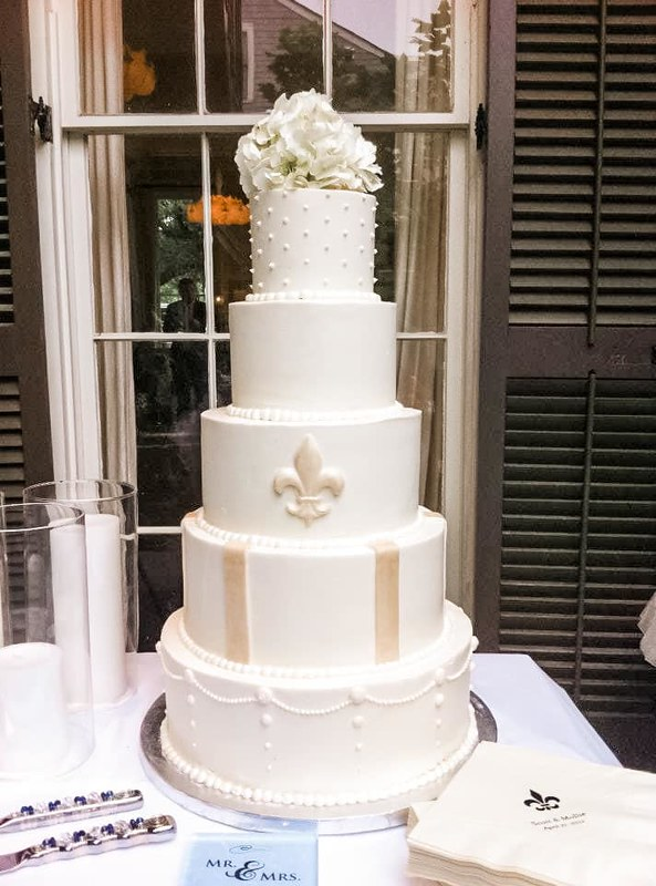 5 Tier Wedding Cake by Baked