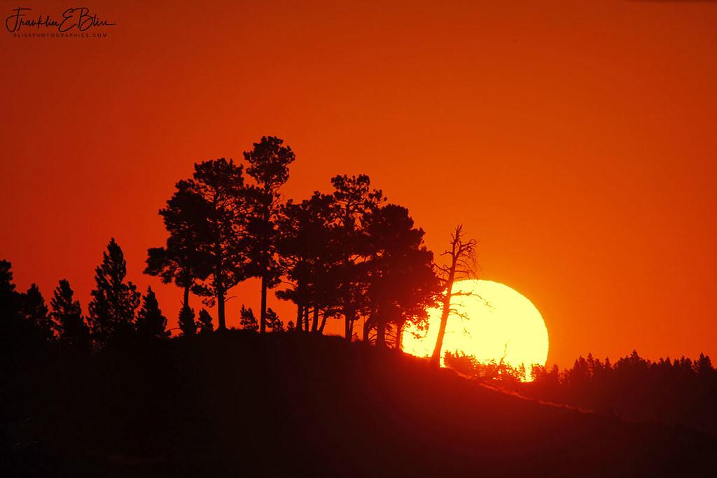 Sunrise Over a Ridgeline Island
