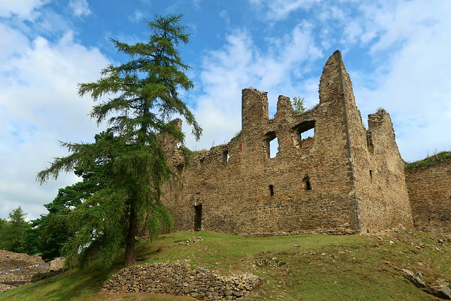 Helfenburk castle ruins.