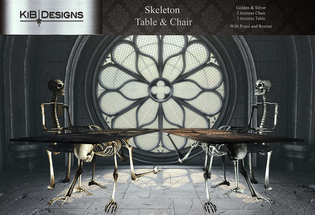 KiB Designs – Skeleton Table & Chair @Dark Style Fair