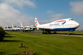 British Airways Boeing 747-400s Lined Up