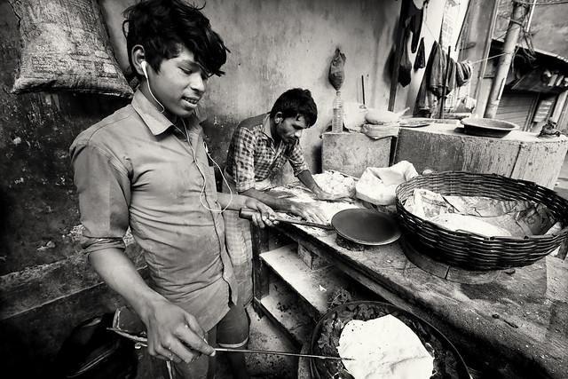 India, street food stall