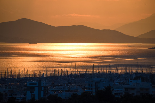 Golden hour in saronic