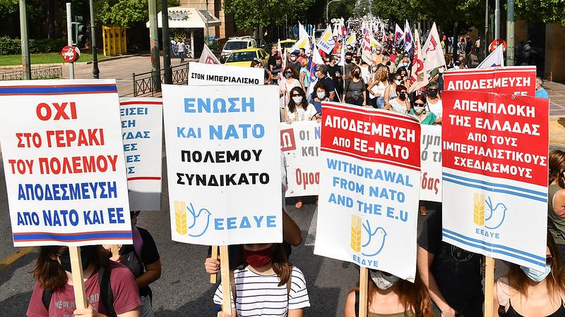 Mobilization against Stoltenberg visit