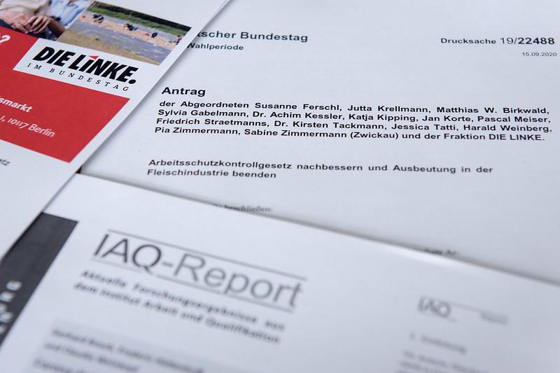 02.10.2020: »Fleischindustrie geknebelt? Alle Branchen geregelt?« Diskussionsveranstaltung der Fraktion DIE LINKE. im Bundestag