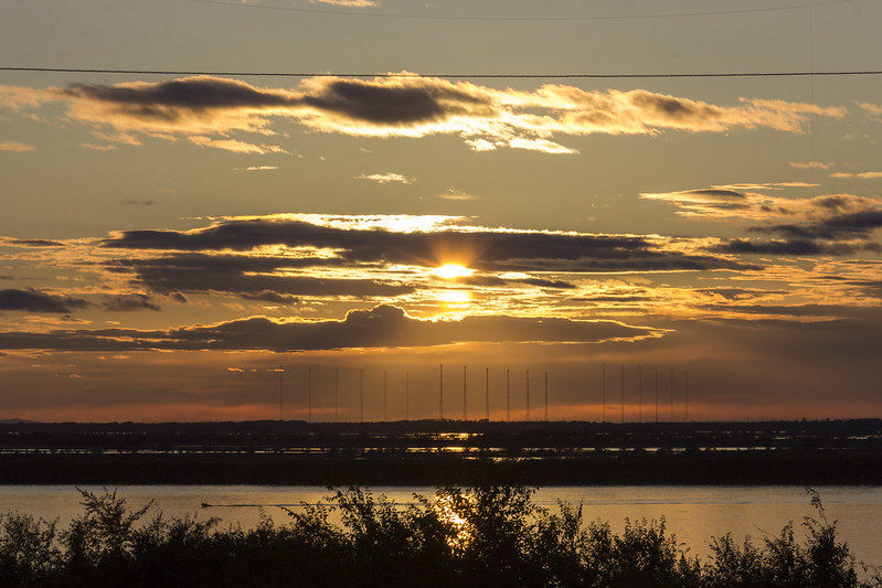 Sunset on the Amur River
