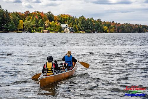 adirondackpark autumn camp canoe clouds dog fallcolor fourthlake inlet man newyork paddles paddling people pet trees water woman nikond750 nikon24120mmf4vr