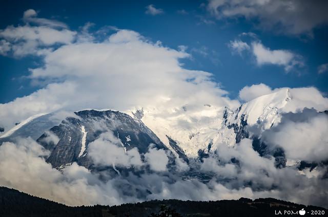 Ciel très perturbé sur la chaîne du Mont Blanc