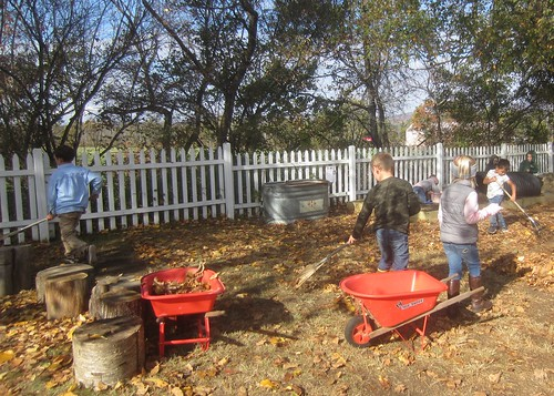 the raking crew | by lyn.schmucker