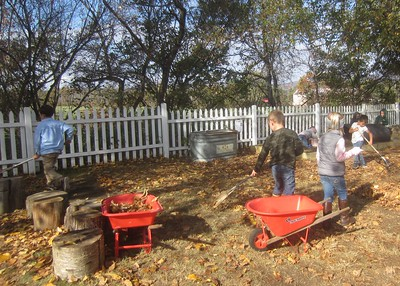 the raking crew