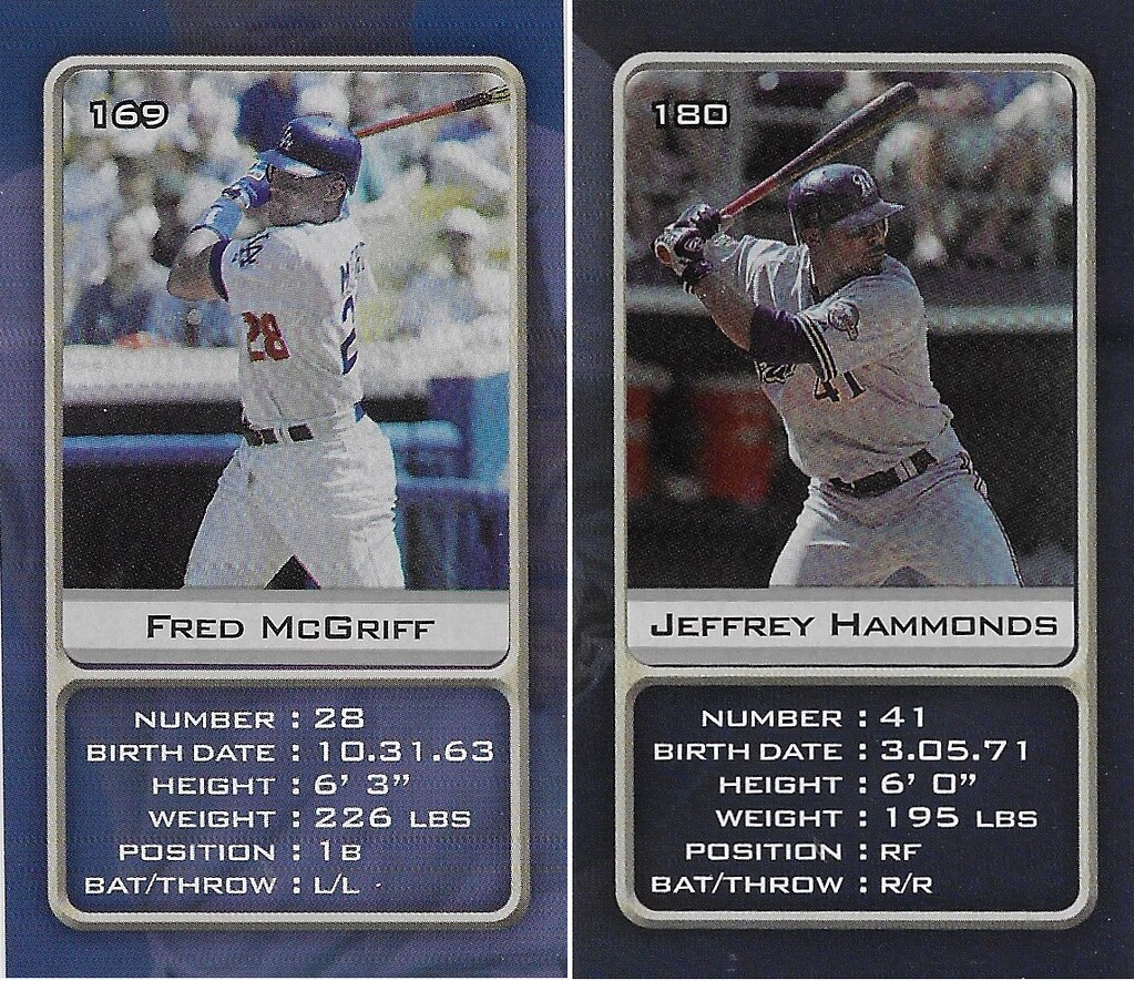 2003 Sports Vault MLB Stickers (Fred McGriff-Jeffrey Hammond)