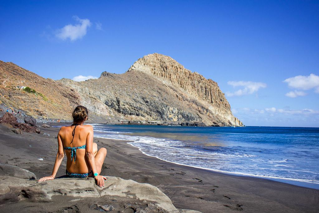 Playa de Antequera y el Roque de fondo