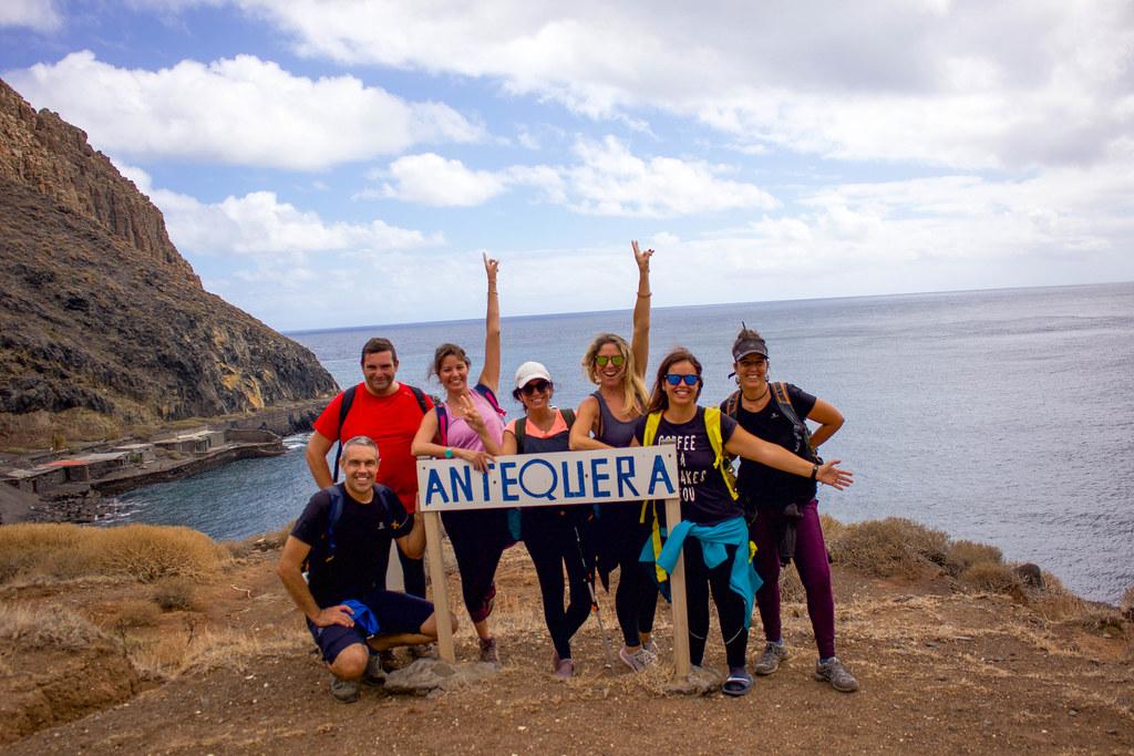 Cartel de la playa de Antequera en Tenerife