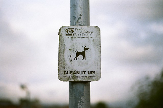 The Sign or the poop - EOS 1000F with canon EF 28-80mm Kodak ColorPlus 200