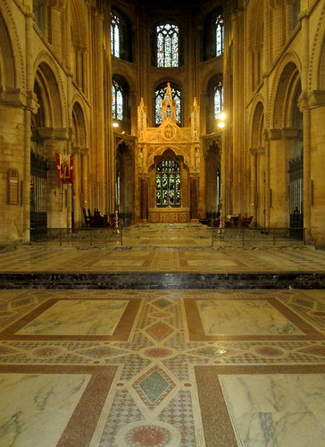 Patterned mosaic floor, Peterborough Cathedral
