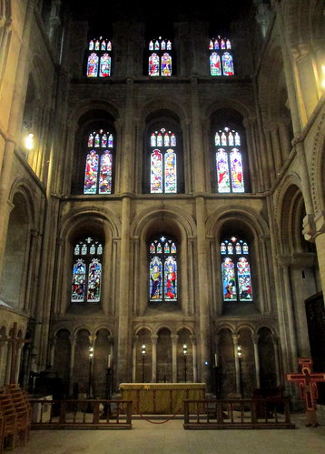Stained Glass , side chapel, Peterborough Cathedral