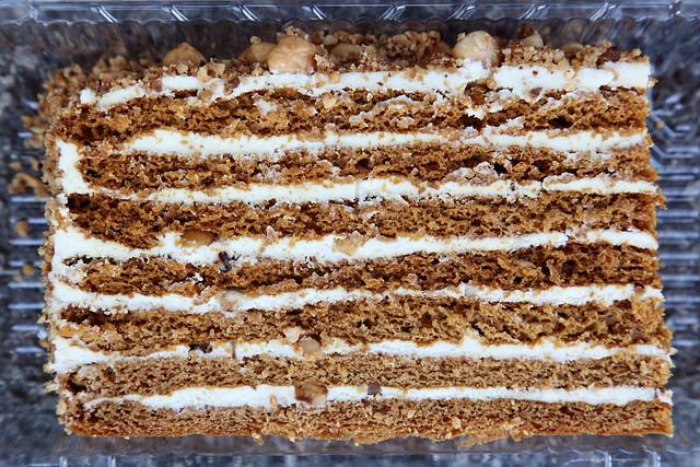 Smetannik, sour cream cake, with hazelnut, Z Fancy Foodz, Sheepshead Bay, Brooklyn