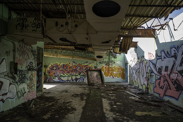 The Inside Walls Covered in Art