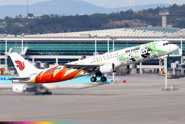 B-6365  -  Airbus A321-213  -  Air China ('Beautiful Sichuan' Livery)  -  ICN/RKSI 06/10/19