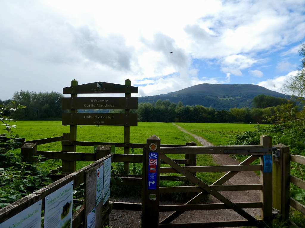 Entrance to the Castle Meadows, Abergavenny