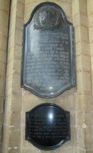 Edith Cavell, Peterborough Cathedral