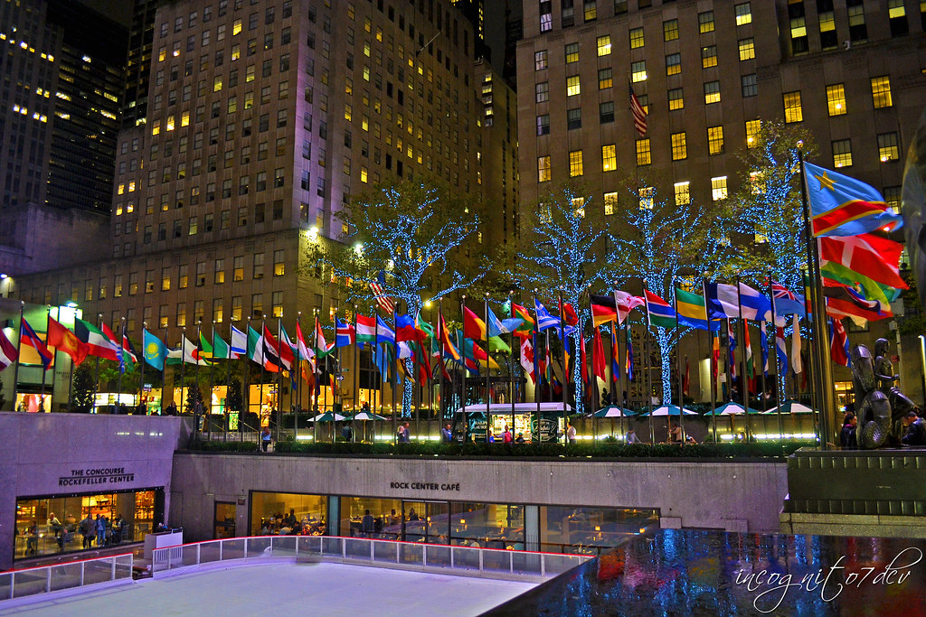 The Beautiful Rink at Night Rockefeller Center Manhattan New York City NY P00672 DSC_9646