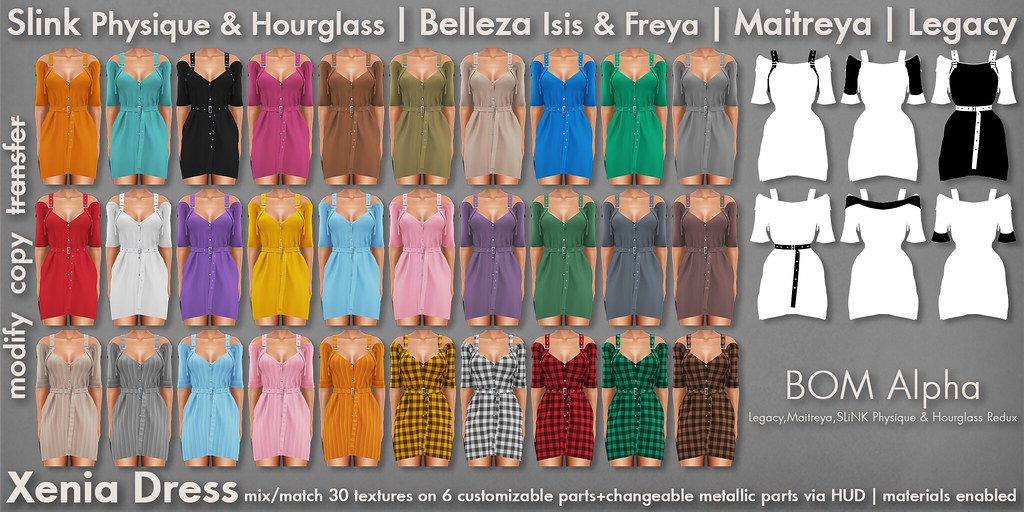 Mutresse@Collabor88 Oct 2020 - Xenia Dress Info