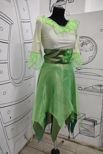 Женский карнавальный костюм Костюм феи зелёный