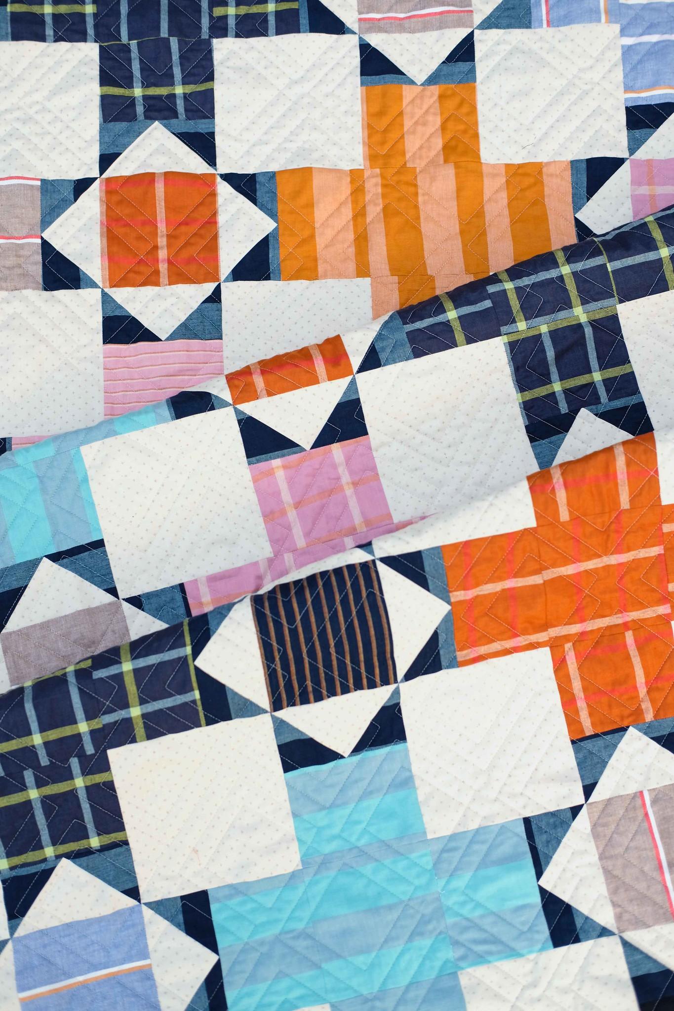The Hazel Quilt in Warp & Weft Heirloom - Kitchen Table Quilting