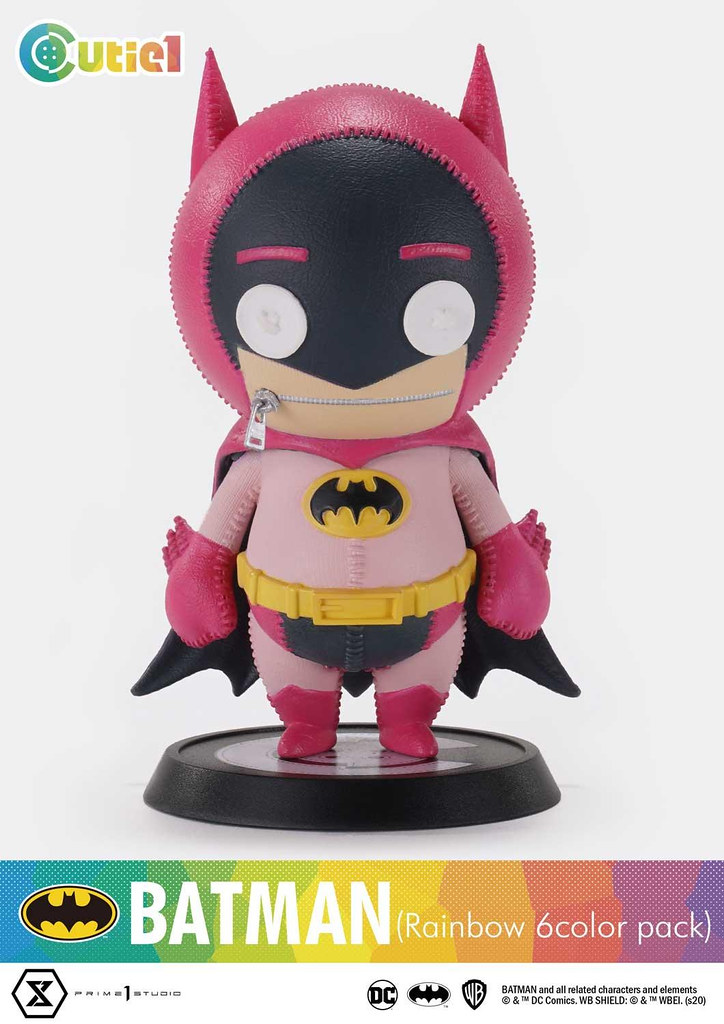 Cutie1系列【蝙蝠俠 彩虹6色套裝】繽紛可愛的布娃娃造型登場~