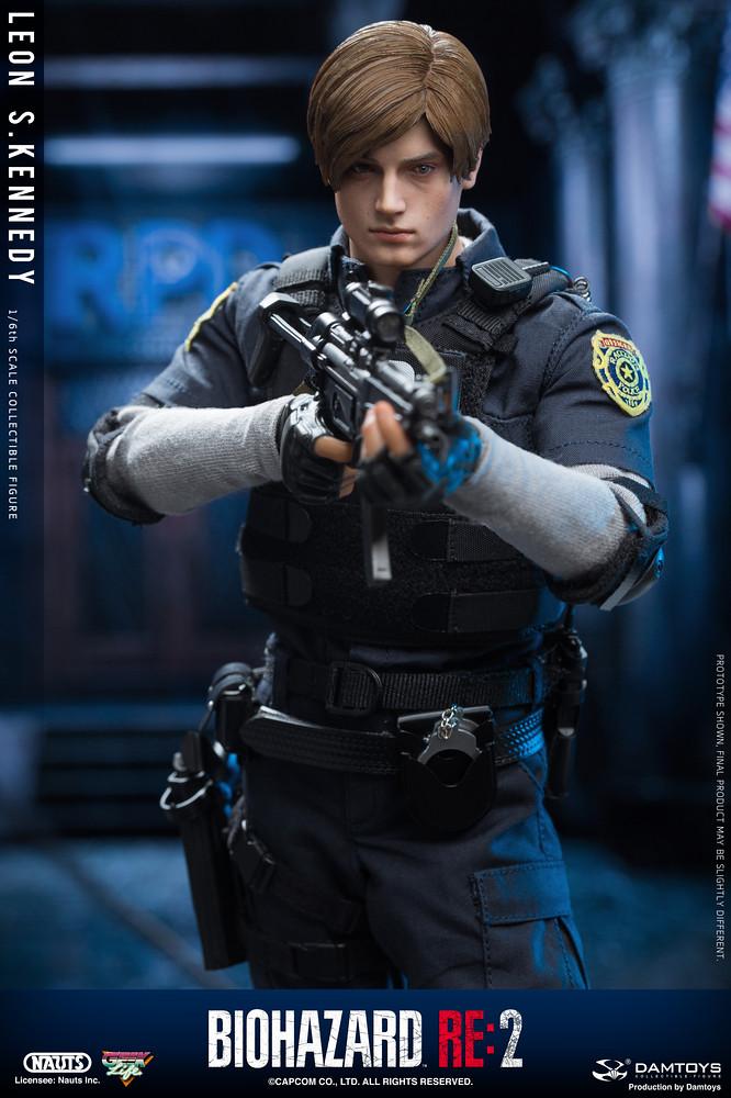 只當了一天警察!DAMTOYS《惡靈古堡2重製版》里昂 1/6 立體可動人偶