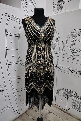 Женский карнавальный костюм Платье с пайетками в стиле Гетсби