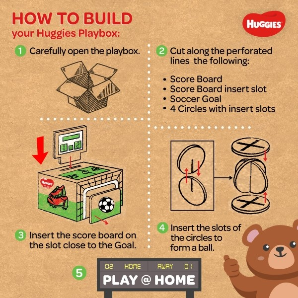 How to Build Huggies Playbox (Soccer)