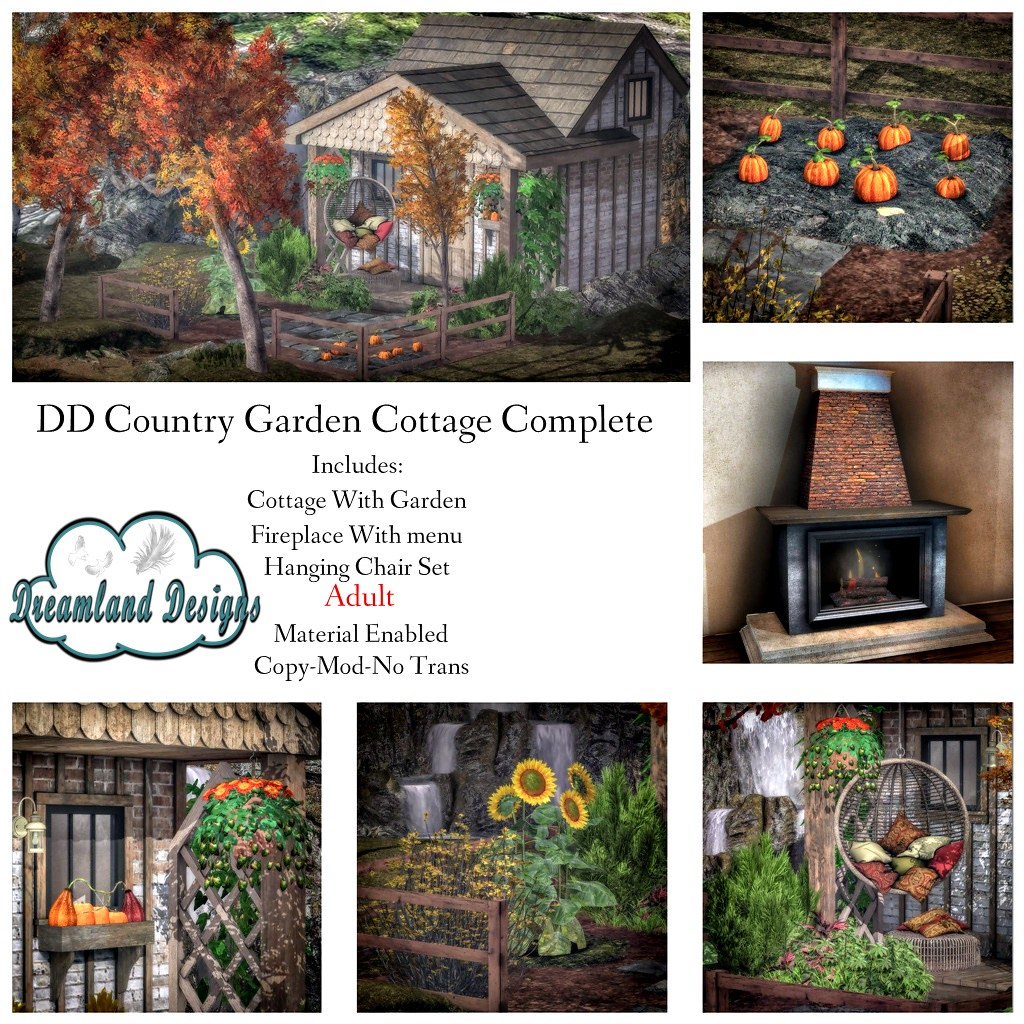DD Country Garden Cottage Complete Set-Adult Ad