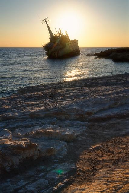 EDRO III Shipwreck Sunset