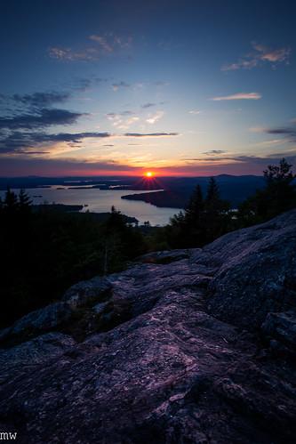 mt major sunrise new hampshire hiking nature landscape