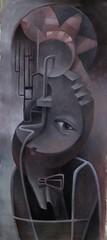 2. Chuang, Chih-Hui - Emotions 心緒75X34cm Acrylic painting-壓克力2016