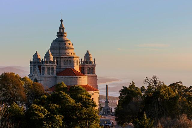 Basílica de Santa Luzia en Viana do Castelo (Norte de Portugal)