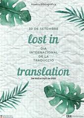 Lost in translation: mostra bibliogràfica amb motiu del Dia Internacional de la Traducció