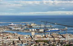 Le port de Sète depuis le Mont Saint Clair.