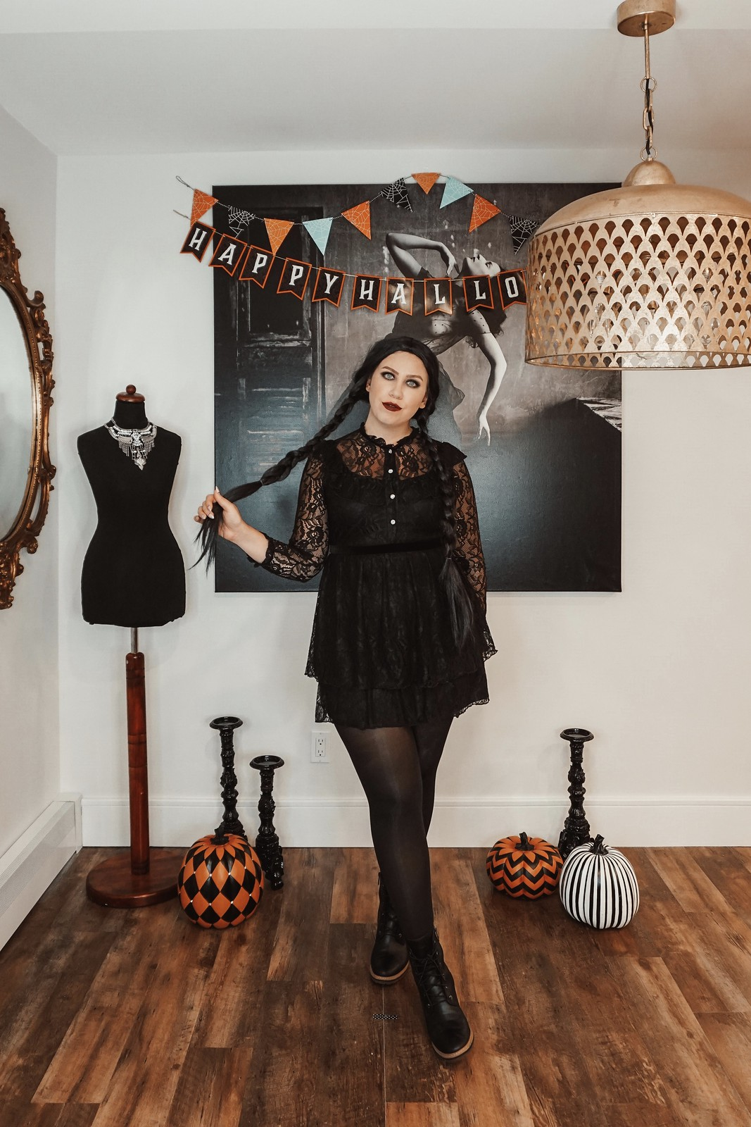 Wednesday Addams Costume The Addams Family | Iconic Movie Halloween Costumes | Women Movie Costumes | Iconic Halloween Costumes | Easy Halloween Costumes | Costumes from your Closet | DIY Halloween Costumes Inspired by your Favorite Character