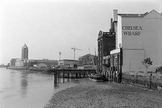 Chelsea Wharf, River Thames, Chelsea,  Kensington & Chelsea, 1988 88-5k-53-positive_2400