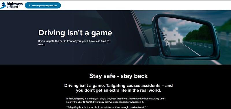 イギリスの高速道路あおり運転防止キャンペーンはスペースインベーダーで (1)
