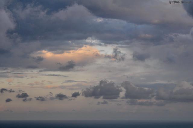 Gray clouds threaten us