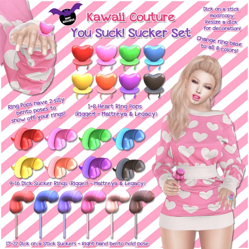 Kawaii Couture – KOT You Suck Sucker Set Ad