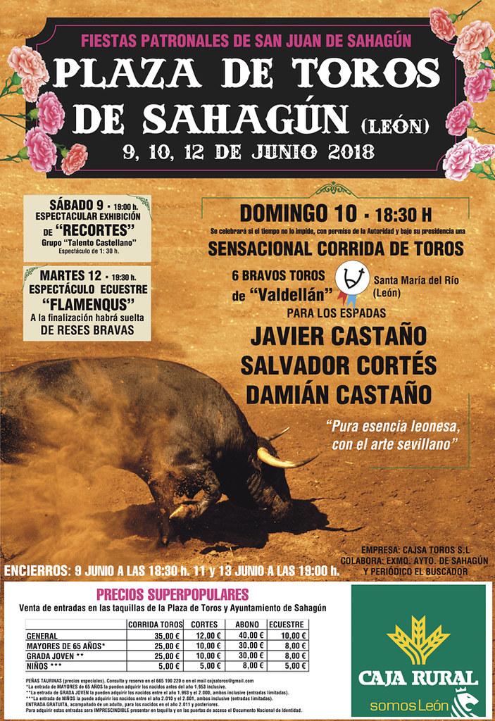 Valdellán lidiará 6 toros en Sahagún (León) el domingo día 10 de junio de 2018