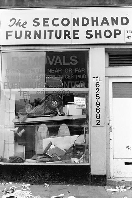 The Secondhand Furniture Shop, Kilburn High Rd, Kilburn, Brent, 1988 88-5l-15-positive_2400