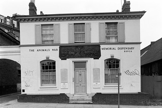The Animals War Memorial Dispensary, Cambridge Ave, Kilburn, Brent, 1988 88-5m-46-positive_2400